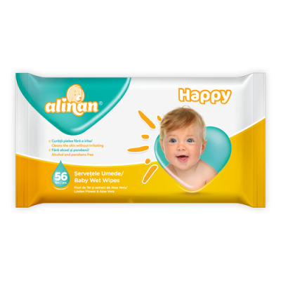 Alinan Happy մանկական խոնավ անձեռոցիկներ
